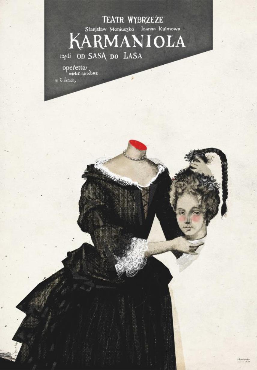 Plakat spektaklu Karmaniola