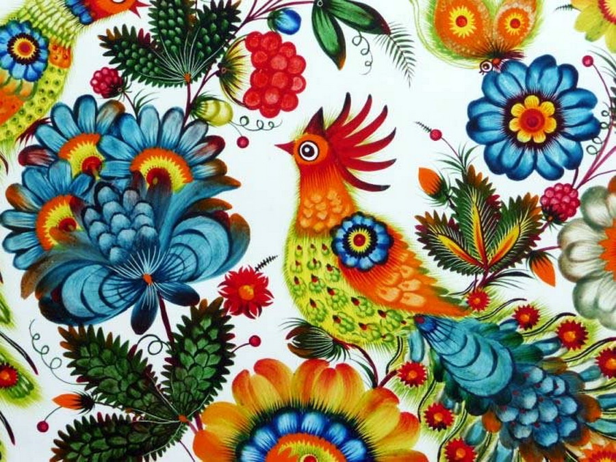 """Malowane palcami i pędzlami z… sierści kota. Wystawa Marty Zwarycz """"Serce w kwiaty"""" w Związku Ukraińców w Polsce"""