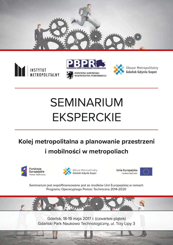 Zaproszenie na seminarium eksperckie poświęcone kolei metropolitalnej