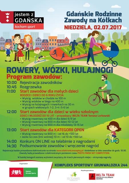 Gdańskie Rodzinne Zawody na Kółkach_plakat