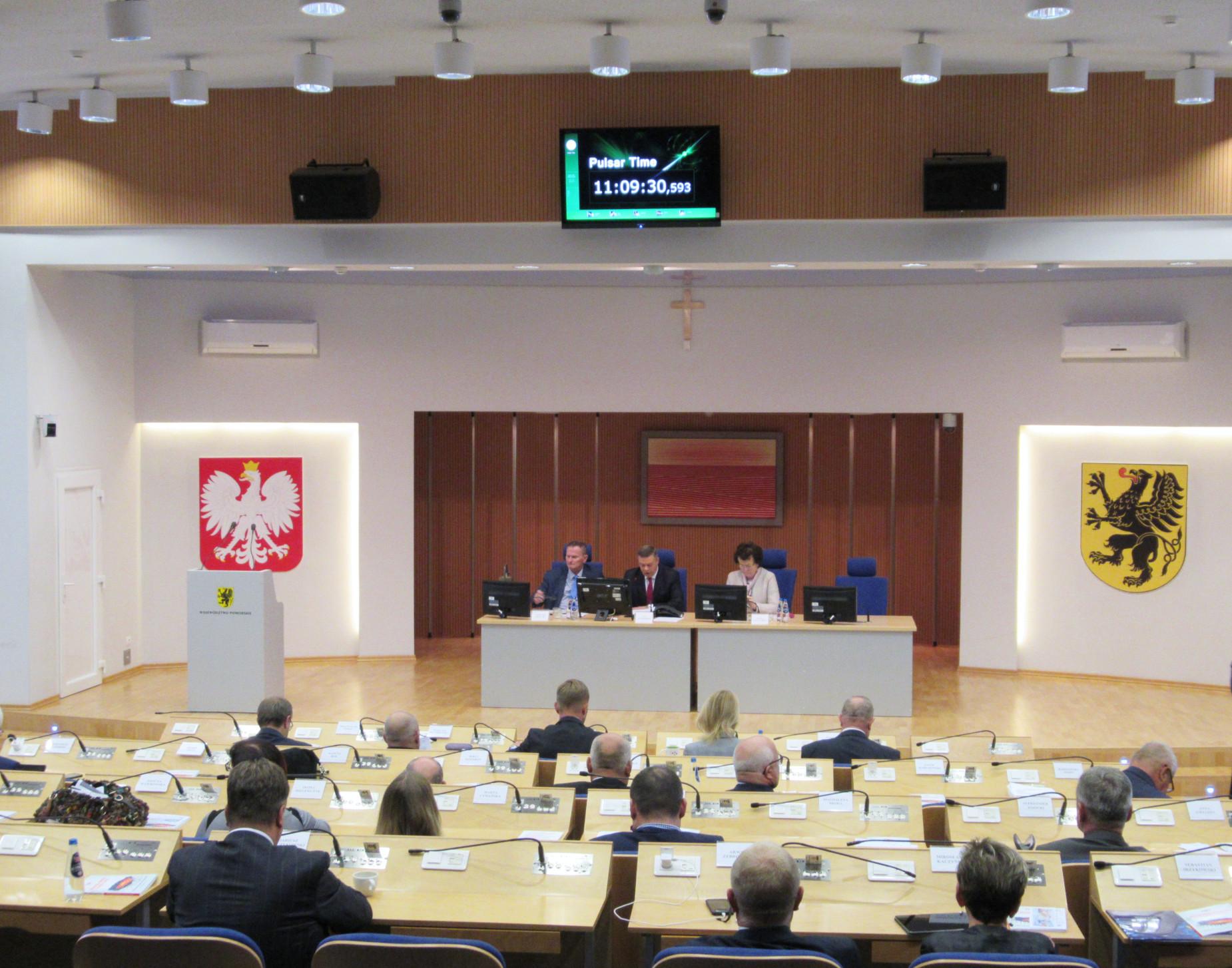 XXII sesja Sejmiku Województwa Pomorskiego [TRANSMISJA NA ŻYWO OD GODZ. 11.00]