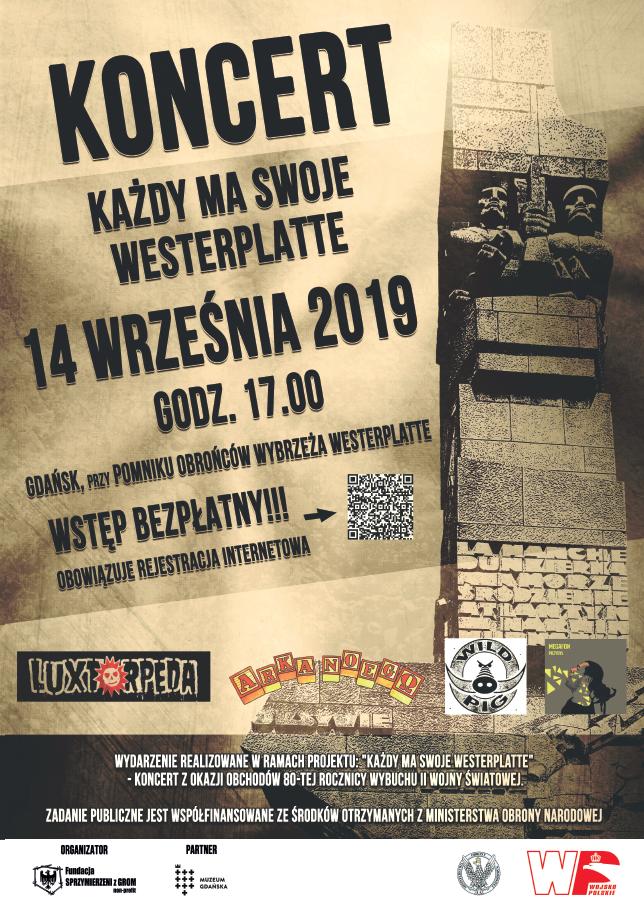 Plakat koncertu na Westerplatte