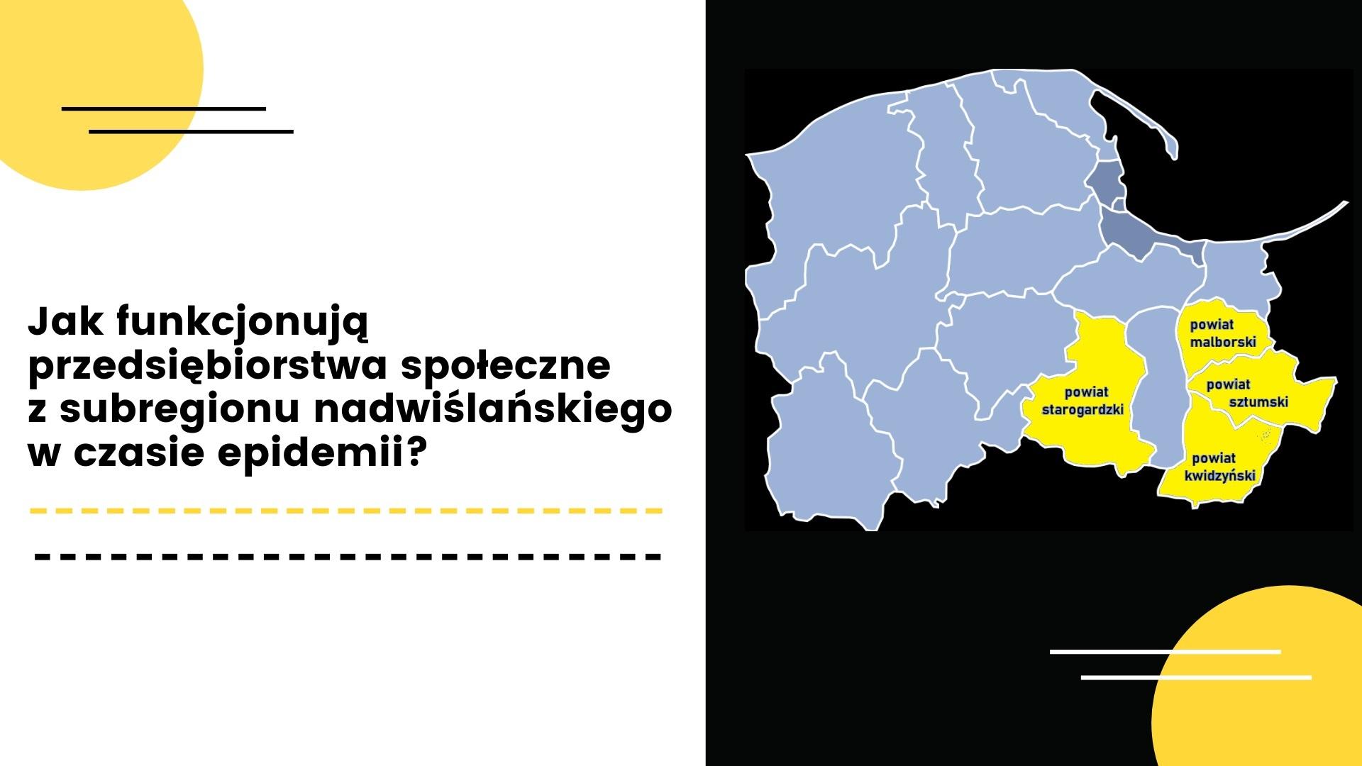 Jak funkcjonują przedsiębiorstwa społeczne z subregionu nadwiślańskiego w czasie epidemii?