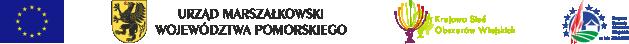 Pasek ze znakami (od lewej): Unia Europejska, Urząd Marszałkowski Województwa Pomorskiego, Krajowa Sieć Obszarów Wiejskich, Program Rozwoju Obszarów Wiejskich