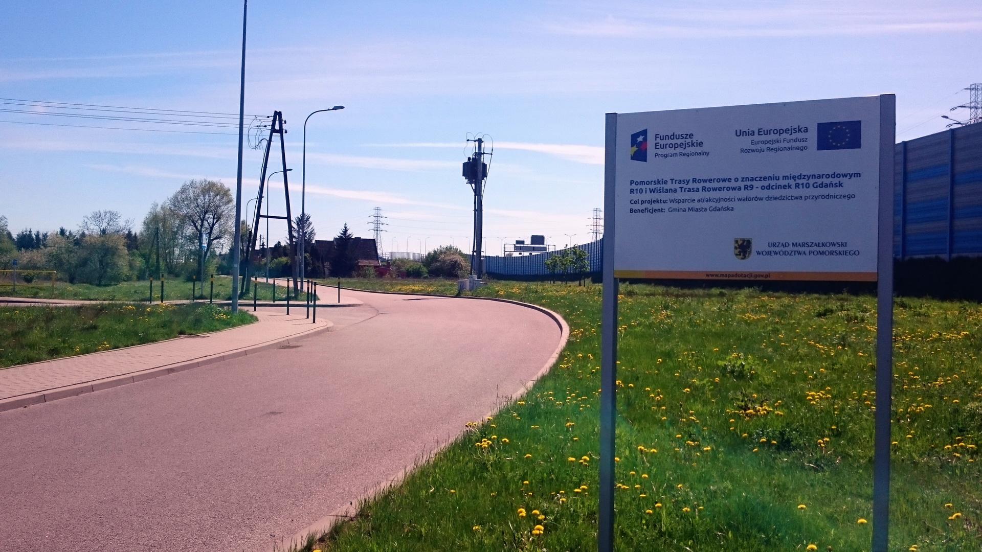 Budowa trasy rowerowej od Węzła Elbląska wzdłuż ulic Miałki Szlak, Sitowie do granicy Miasta Gdańska na półmetku
