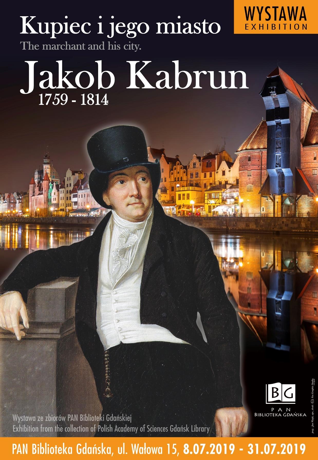 Plakat wystawy Kupiec i jego miasto