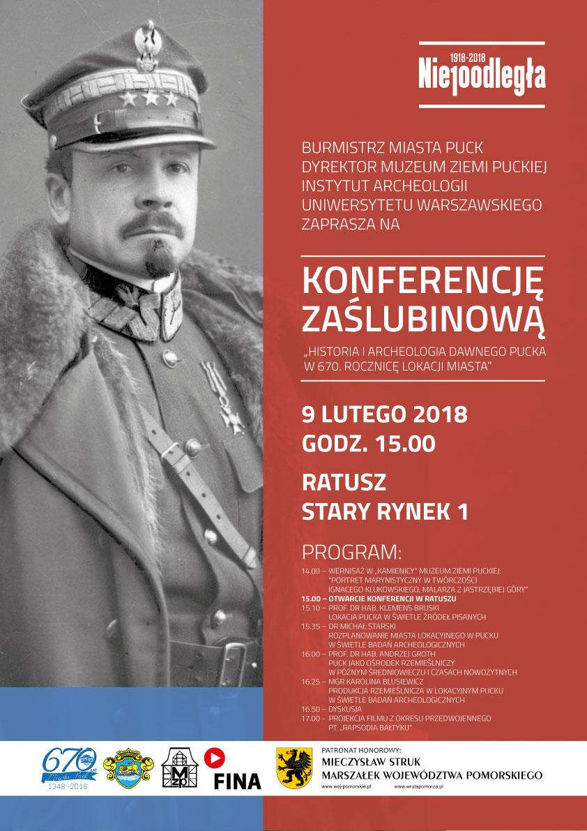 Konferencja zaślubinowa w Pucku - plakat