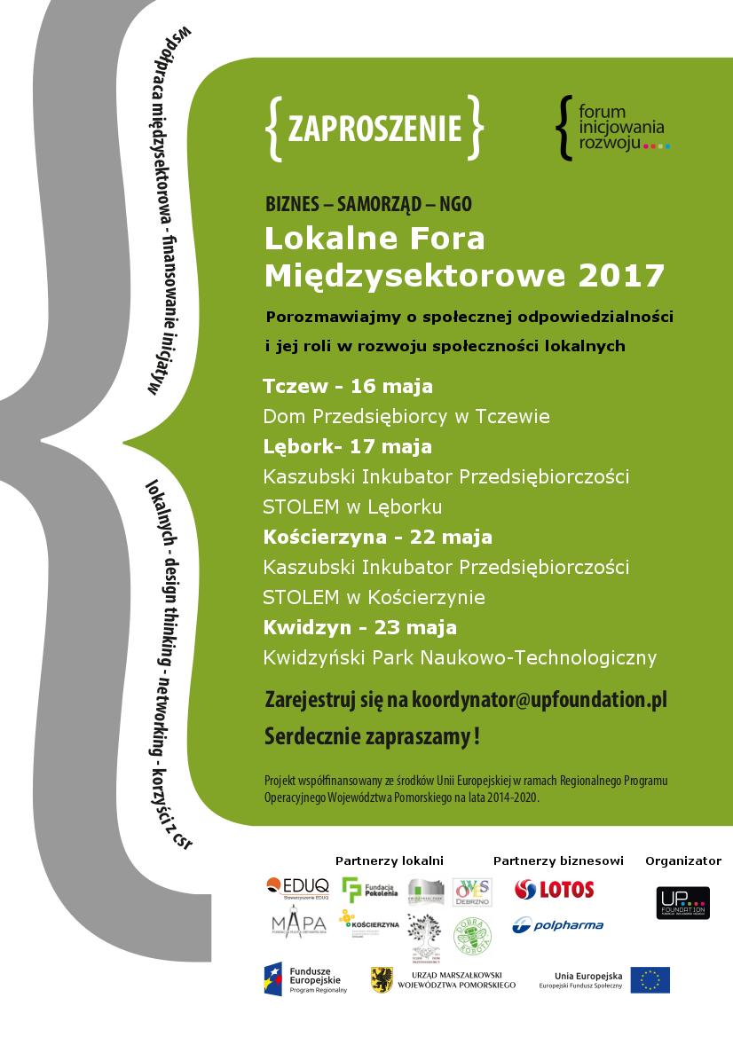 Zaproszenie do współtworzenia i uczestnictwa w II Lokalnym Forum Międzysektorowym