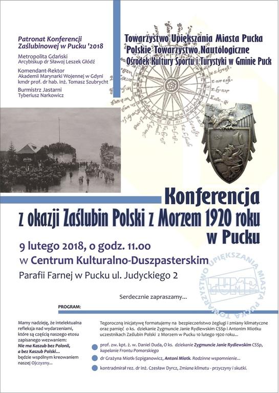 Konferencja popularno-naukowa w Pucku - plakat