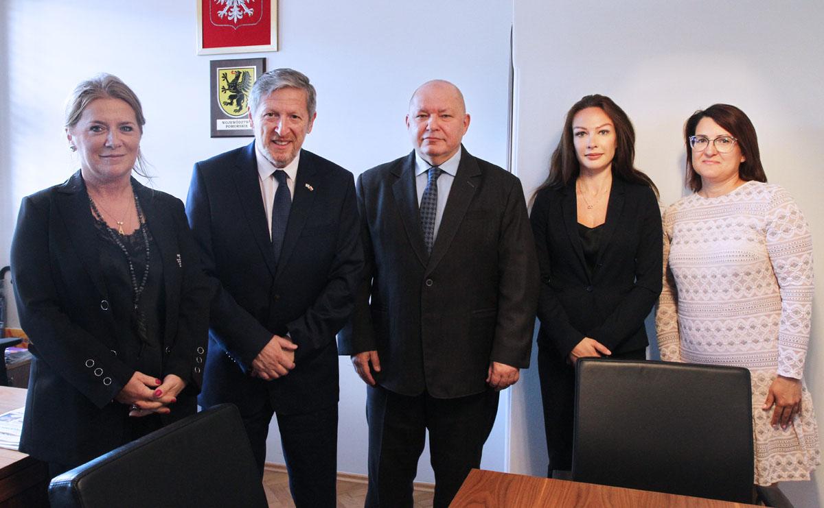 Rozmawiali o cyberbezpieczeństwie, innowacjach i turystyce. Pierwsza wizyta ambasadora Izraela na Pomorzu