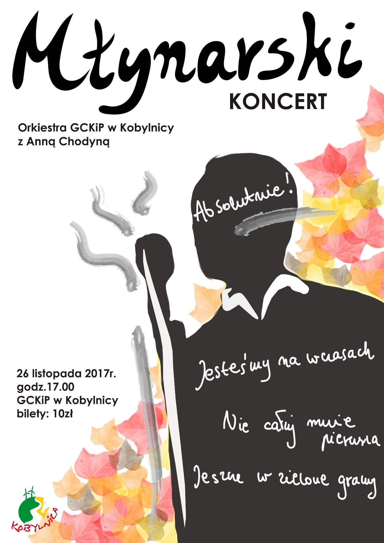 Plakat Młynarski. Koncert