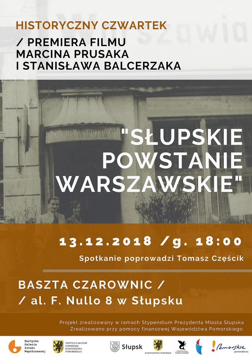 Film Słupskie Powstanie Warszawskie _plakat