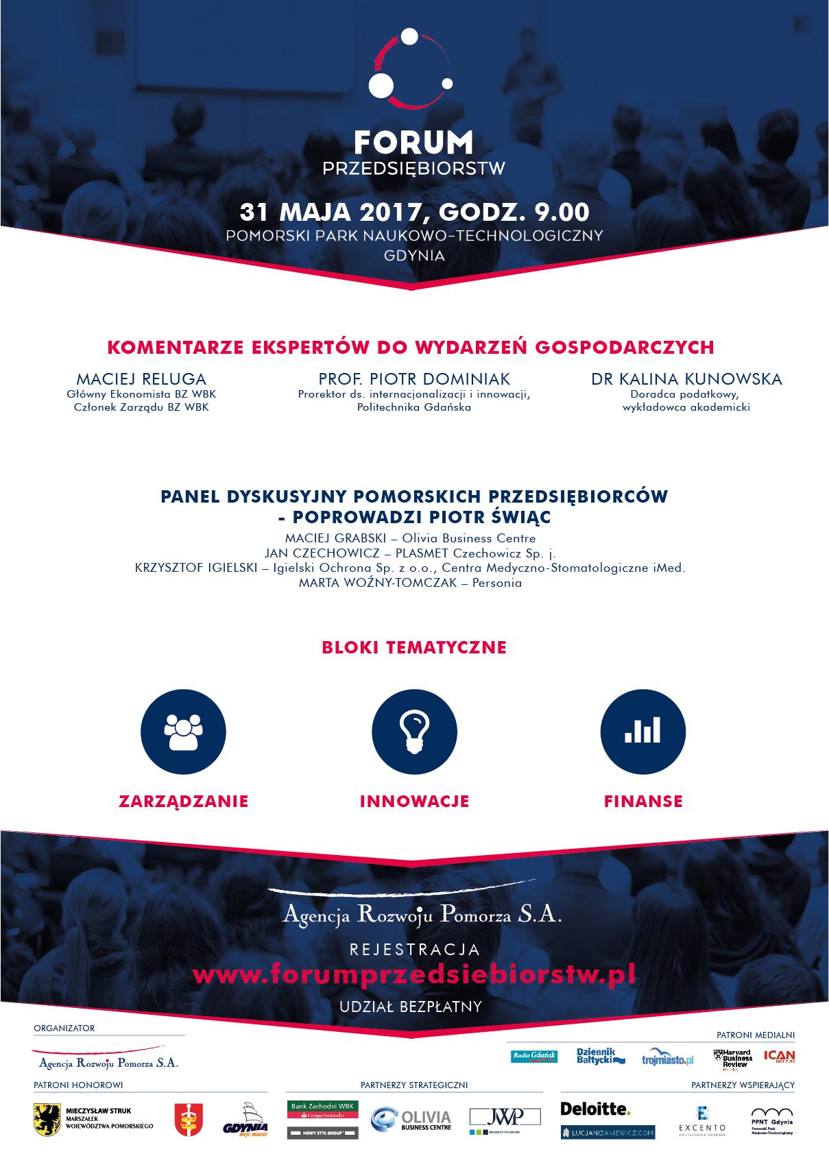 Plakat Forum Przedsiębiorstw 2017