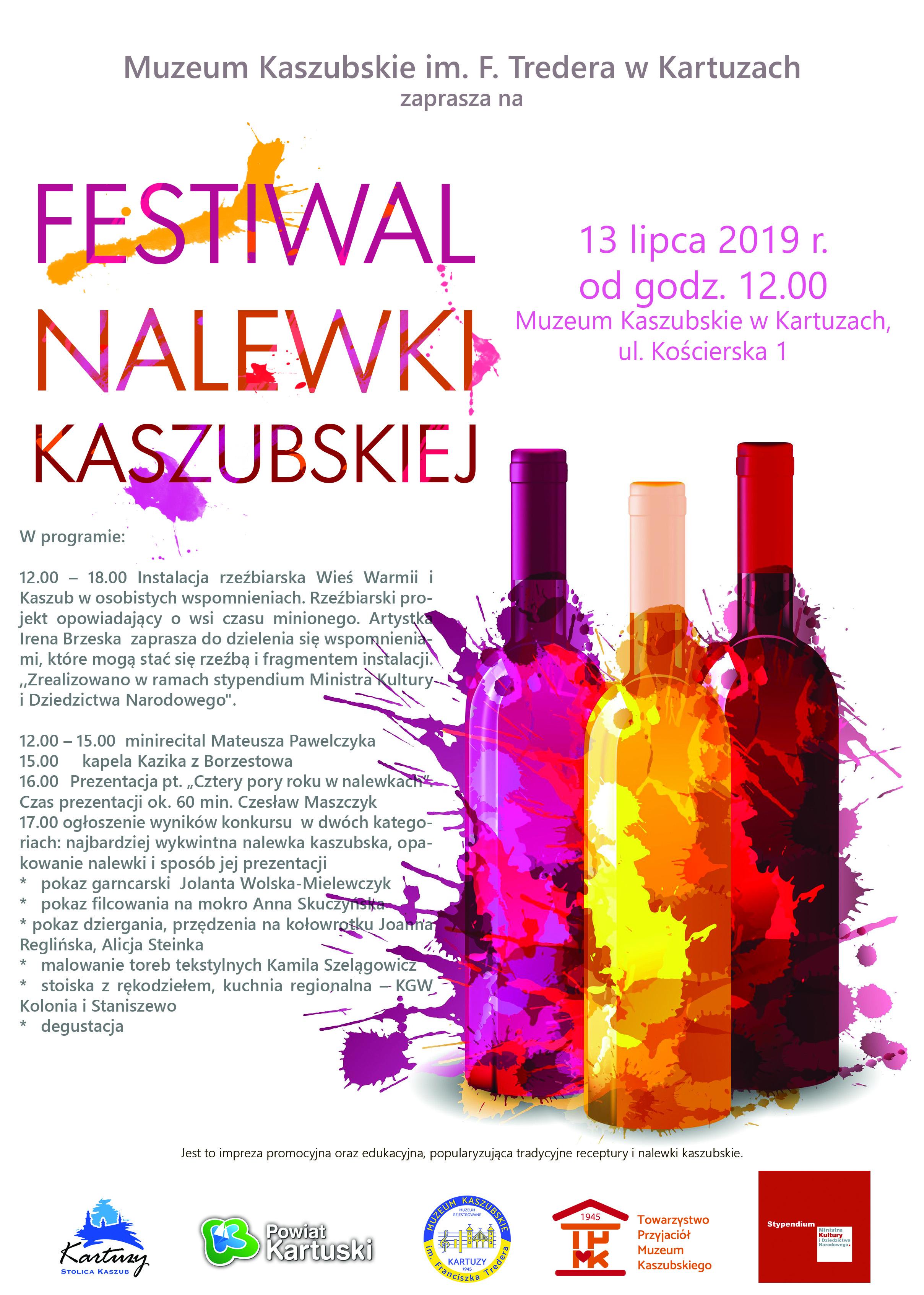 Plakat Festiwalu Kaszubskiej Nalewki