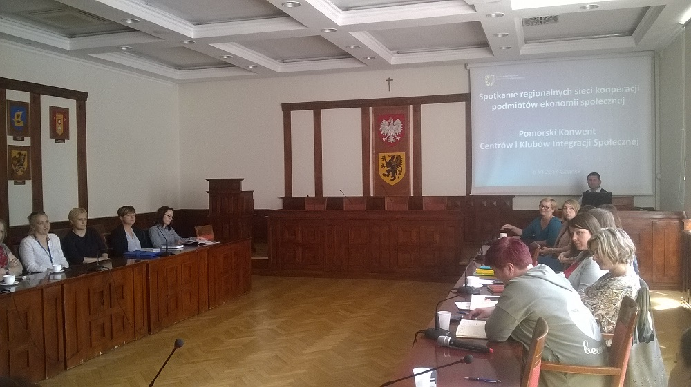 spotkanie regionalnych sieci kooperacji podmiotów ekonomii społecznej. Pomorski Konwent Centrów i Klubów Integracji Społecznej
