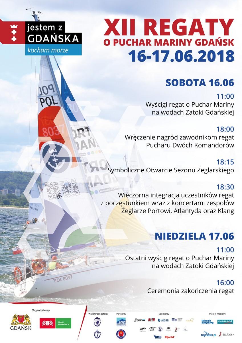 Regaty w Marinie Gdańsk_plakat