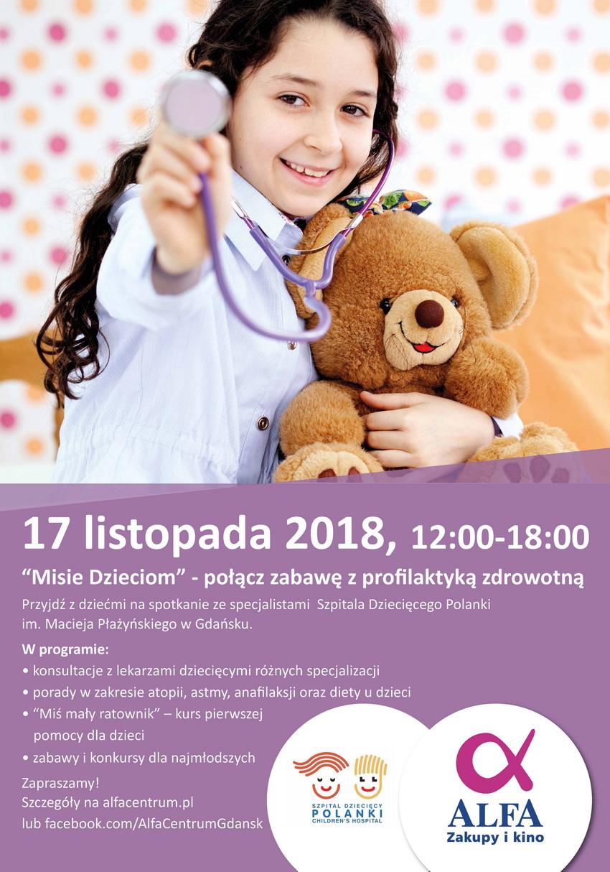Plakat misie- dzieciom