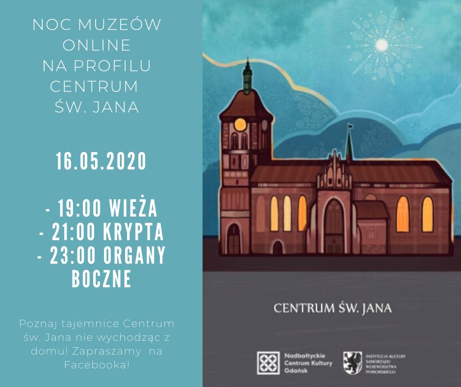 Plakat Nocy Muzeów w centrum św. Jana