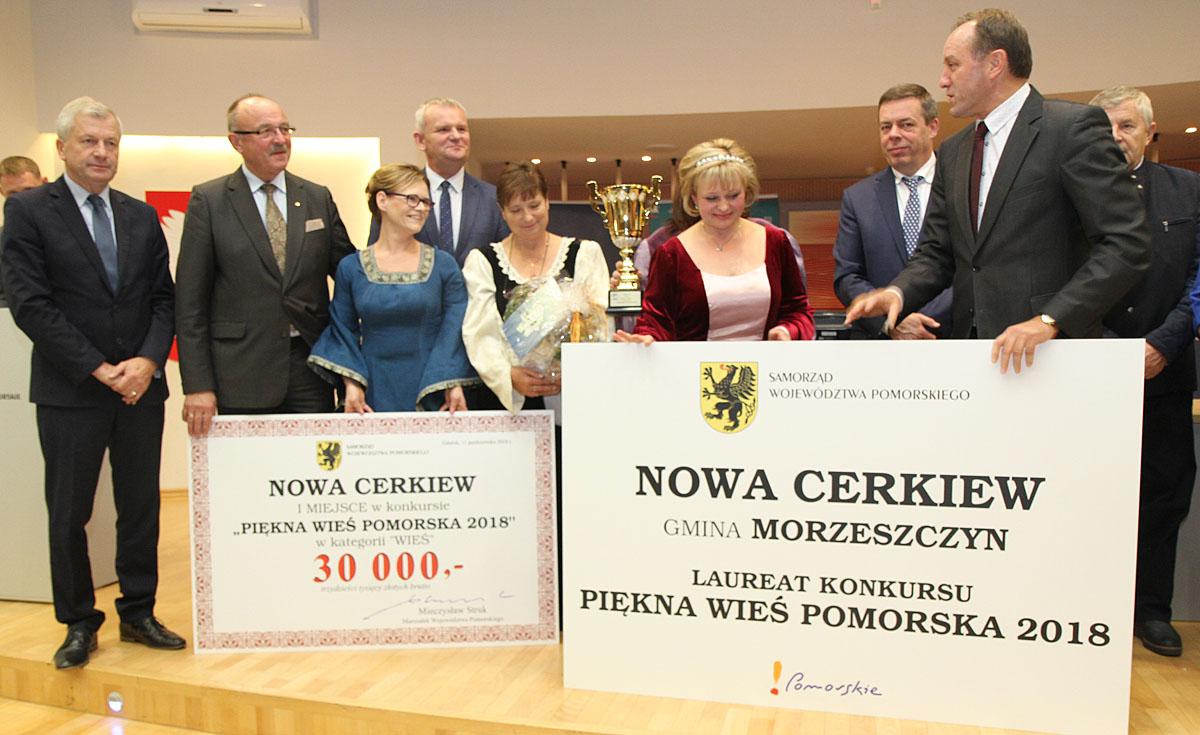 Nowa Cerkiew najpiękniejszą wsią w województwie pomorskim. Nagrody i wyróżnienia w konkursie Piękna Wieś Pomorska 2018