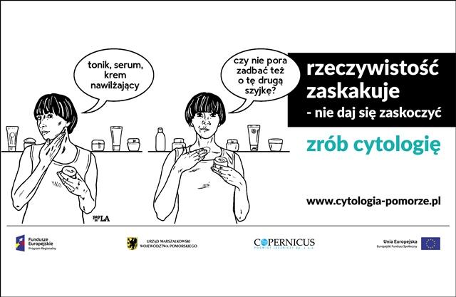 Nie daj się zaskoczyć – zrób cytologię_baner kampanii