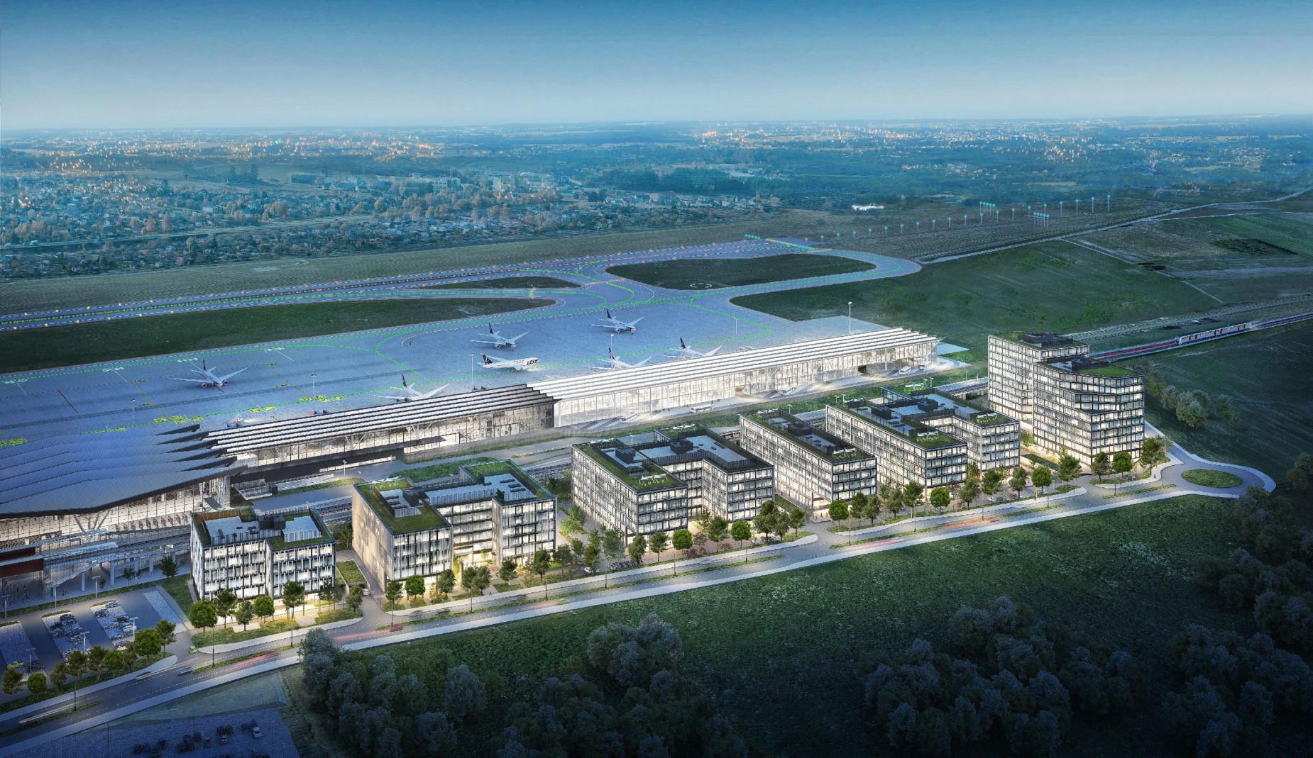 Takiej inwestycji jeszcze w Polsce nie było! Airport City Gdańsk, czyli biznesowe centrum przy lotnisku