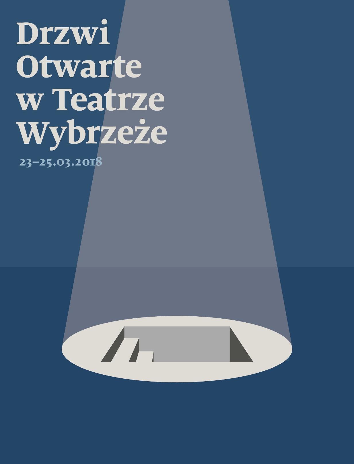 Plakat Drzwi Otwartych w Teatrze Wybrzeże