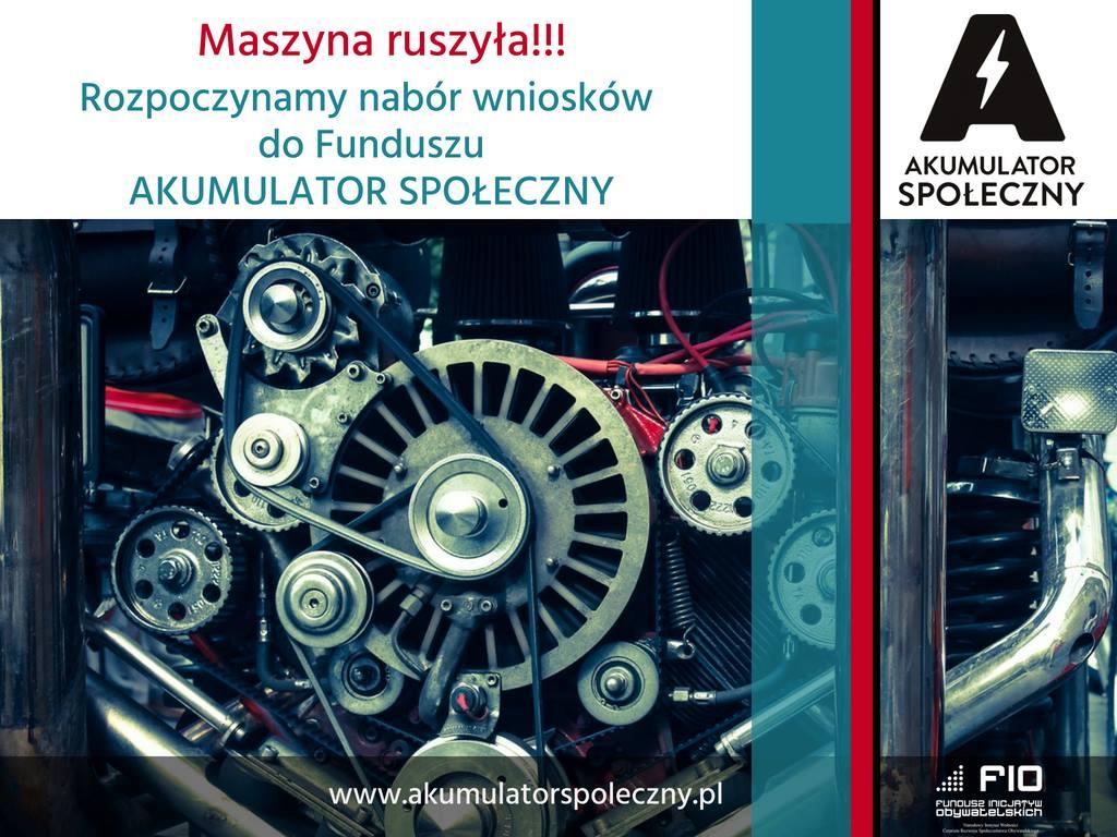"""Fundusz """"Akumulator Społeczny"""" – wsparcie na realizację Waszych pomysłów!"""