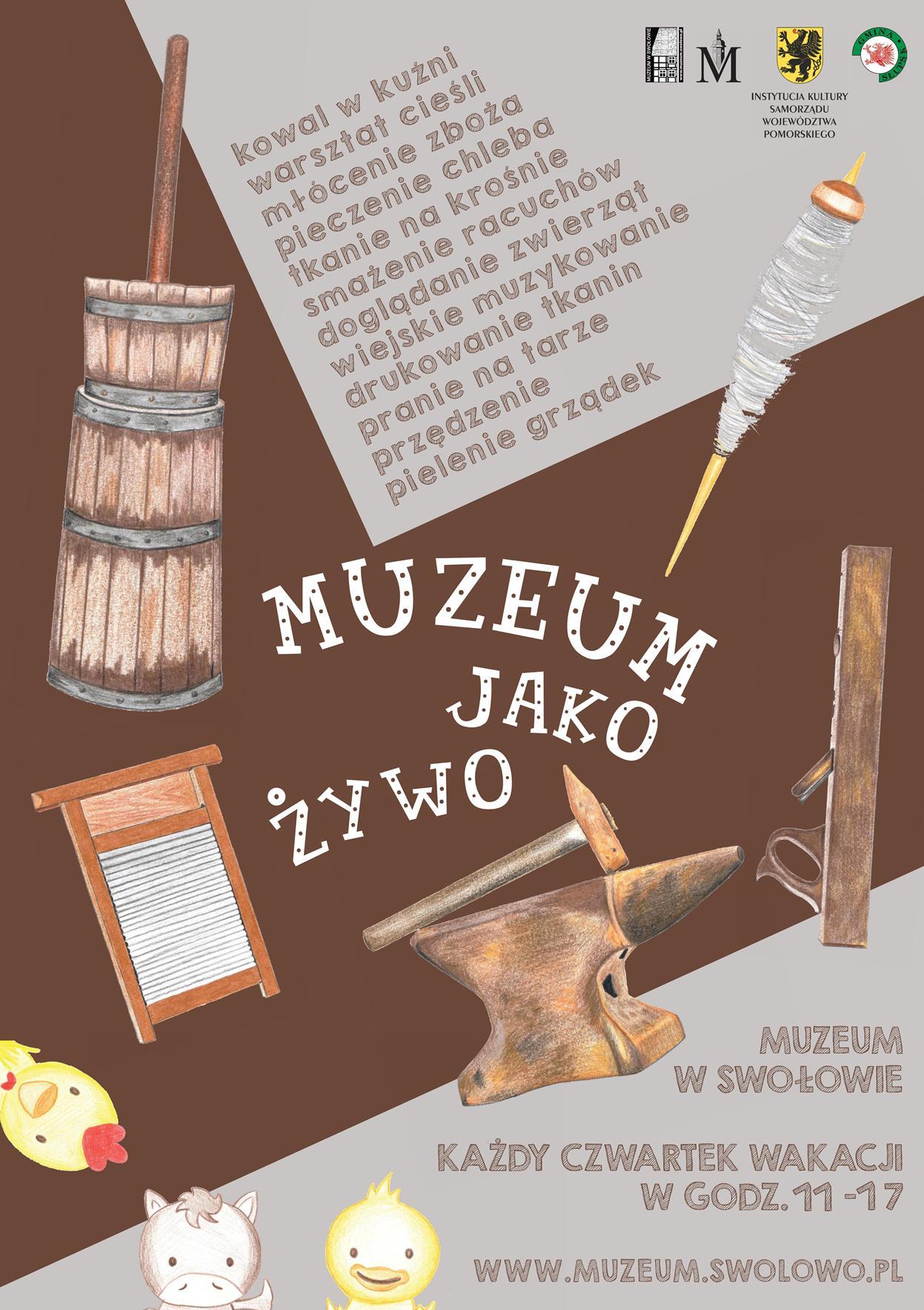 Plakat akcji Muzeum jako żywo
