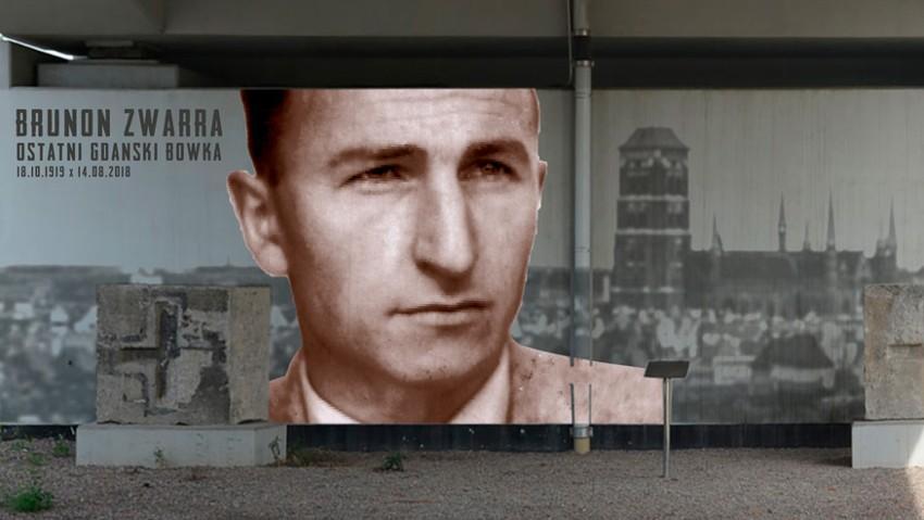 Mural przedstawiający postać Brunona Zwarry