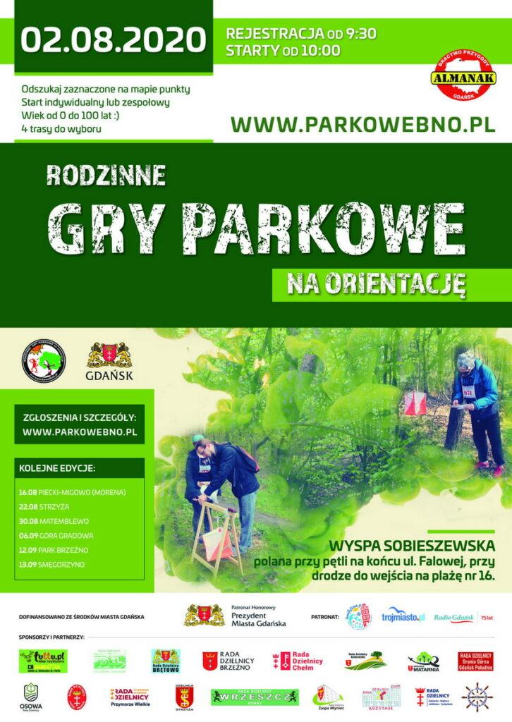 Rodzinne Gry Parkowe na Wsypie Sobieszewskiej_plakat