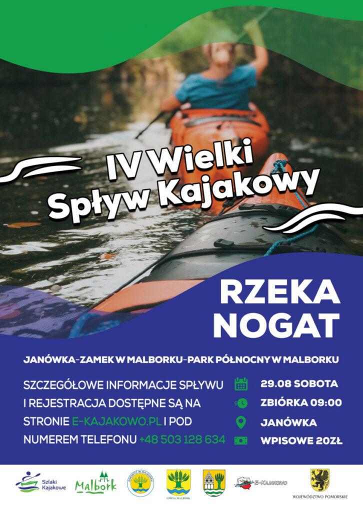 Plakat Spływ Nogatem 2020