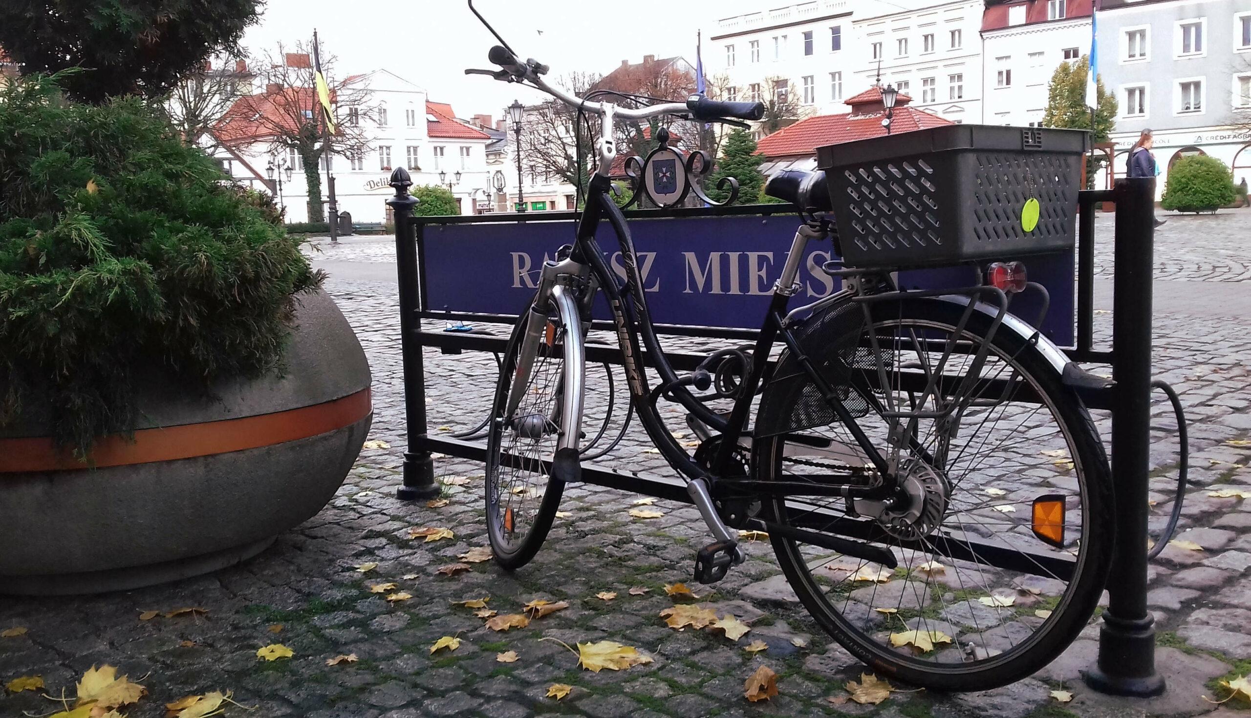 Rower przed urzędem miejskim w Wejherowie