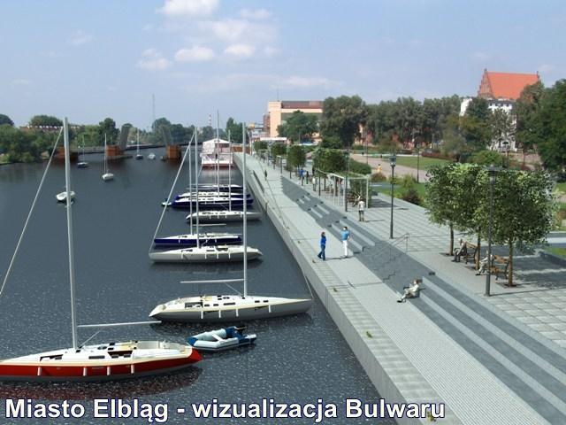 Miasto Elbląg - wizualizacja Bulwaru