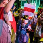 Wiec poparcia dla Wolnej Białorusi w Gdańsku pod historyczną Bramą nr 2, 31 sierpnia 2020 r.