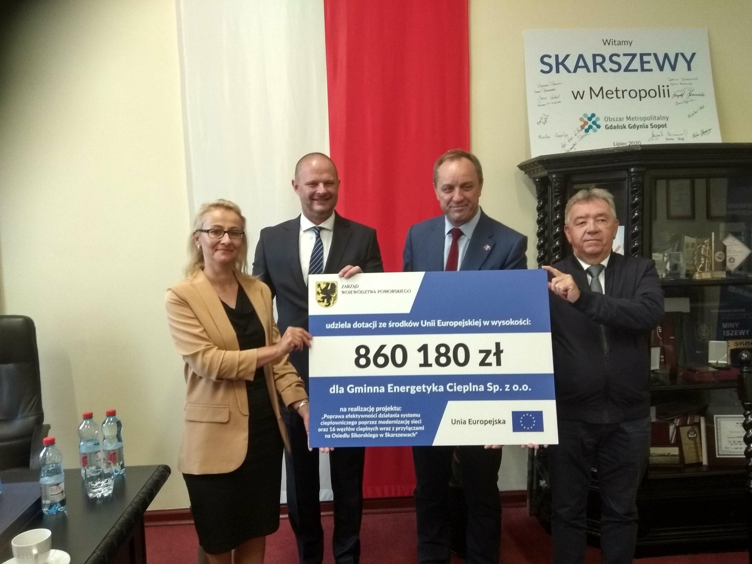 Unia Europejska dofinansuje modernizację sieci ciepłowniczej w Skarszewach