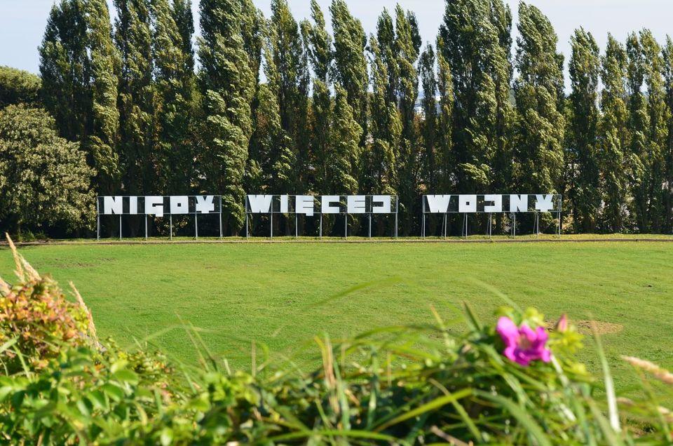 Napis na Westerplatte: Nigdy więcej wojny