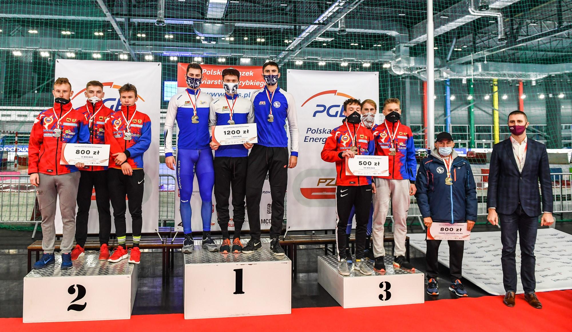 Wielki sukces łyżwiarzy Stoczniowca w mistrzostwach Polski w łyżwiarstwie szybkim