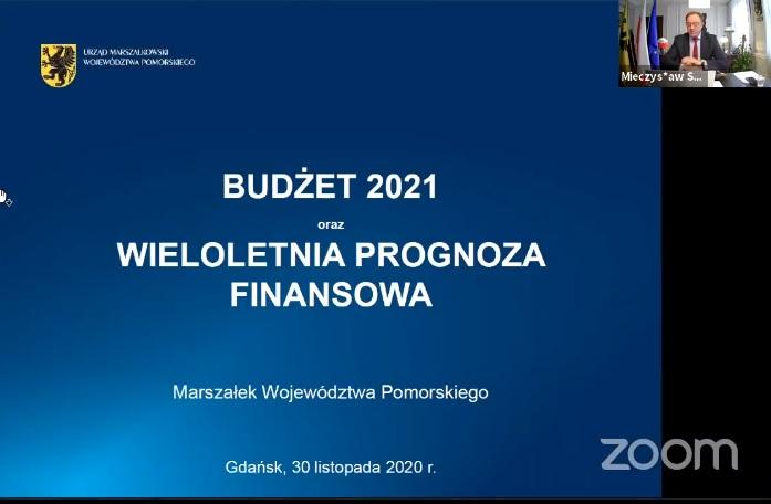 Pierwsze czytanie projektu budżetu. Na co pomorski samorząd w 2021 r. wyda 1,1 mld zł?