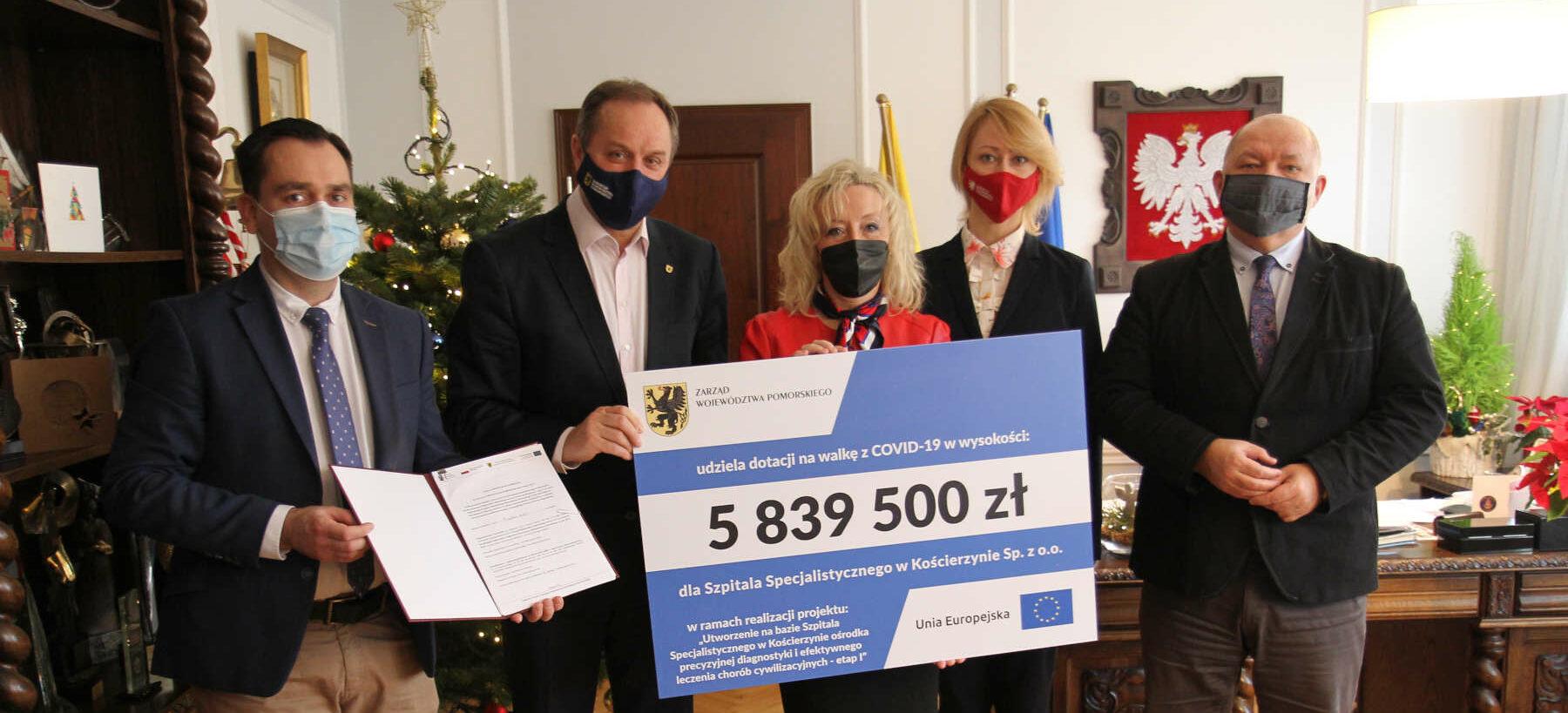 Prawie 17 mln zł dla szpitali na walkę z COVID-19. Dodatkowe środki dostaną Słupsk, Kościerzyna i Sopot