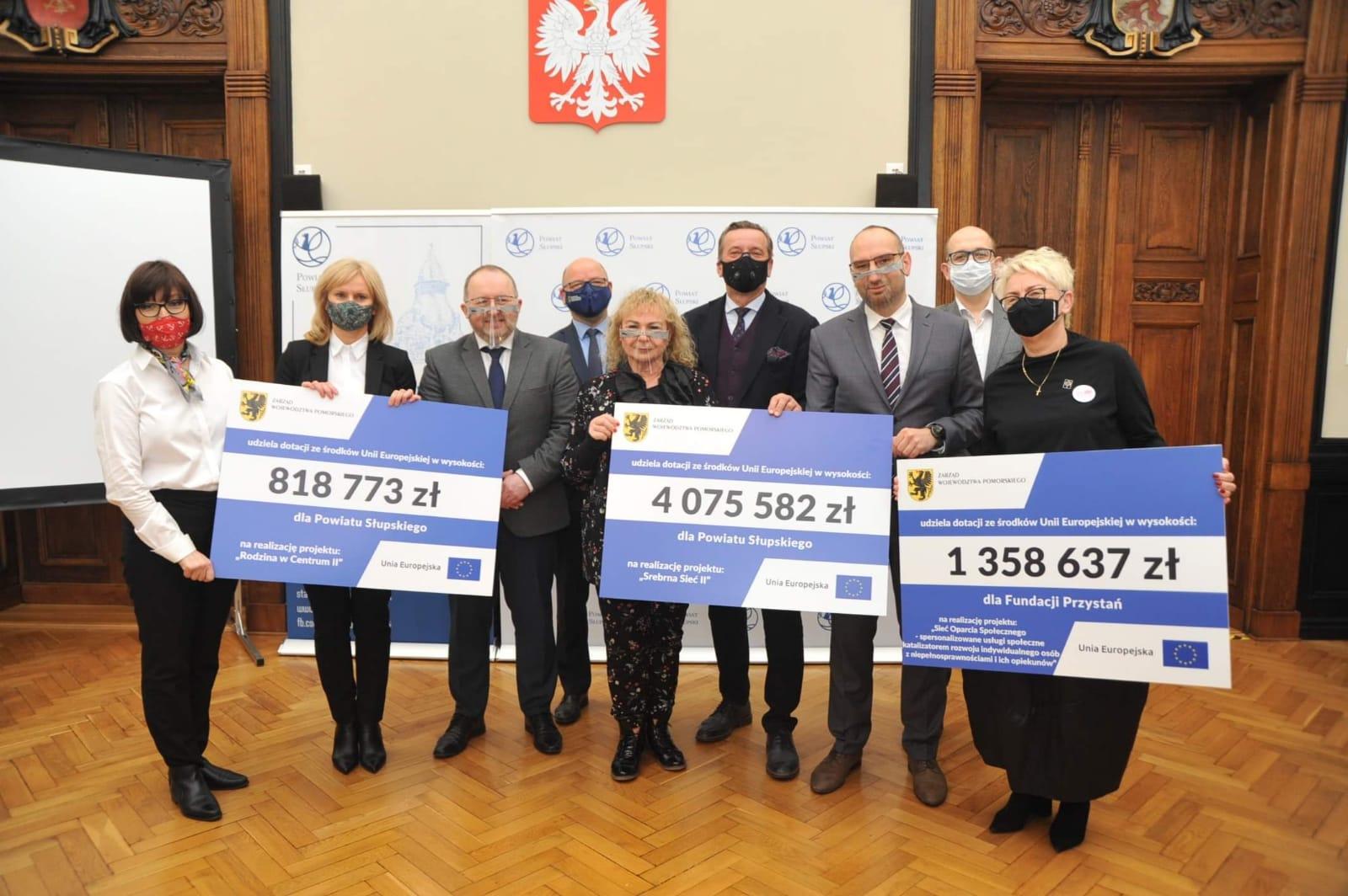 Ponad 6,2 mln zł dla powiatu słupskiego i fundacji Przystań. Unijne dotacje na wsparcie usług społecznych