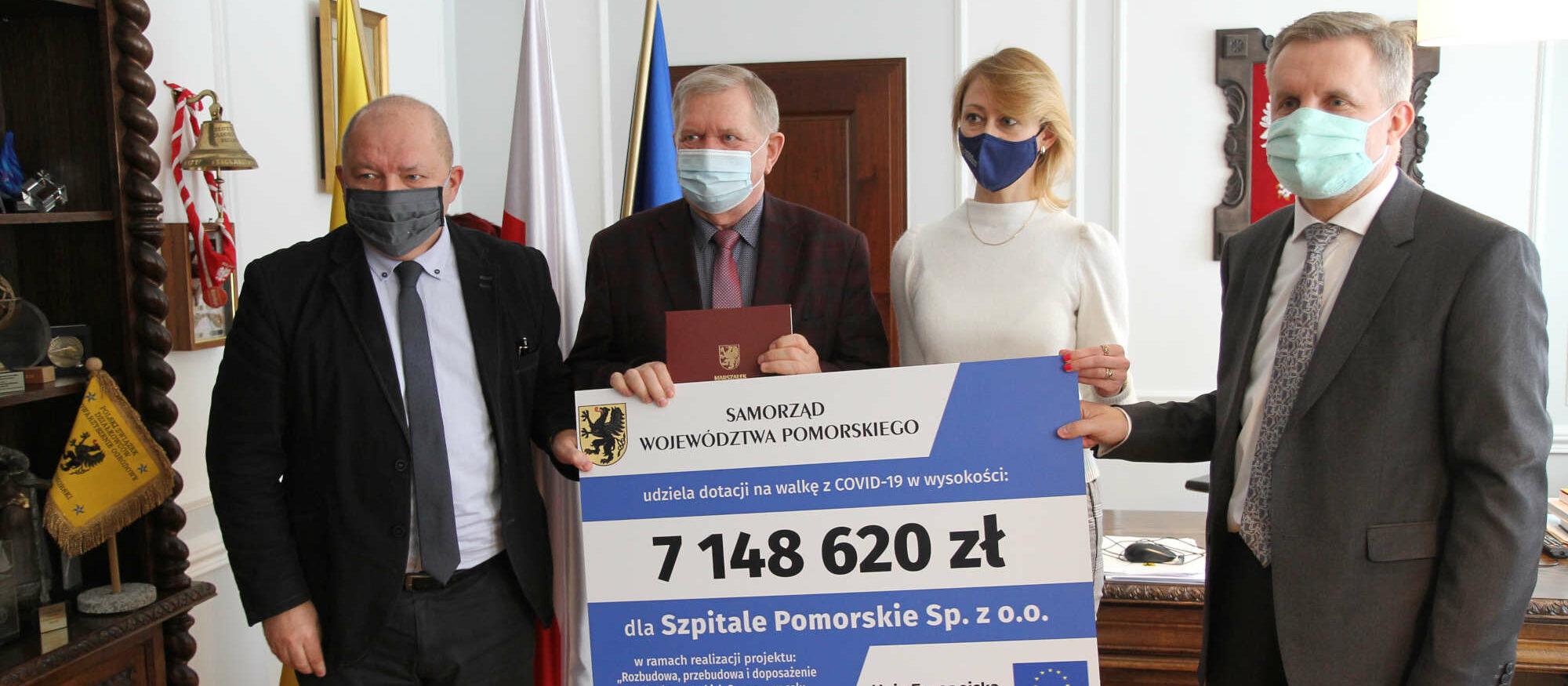 Dodatkowe unijne środki dla szpitali w Gdyni na walkę z COVID-19. Dostaną ponad 7 mln zł