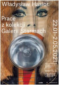 plakat wystawy dzieł Hasiora w państwowej galerii sztuki