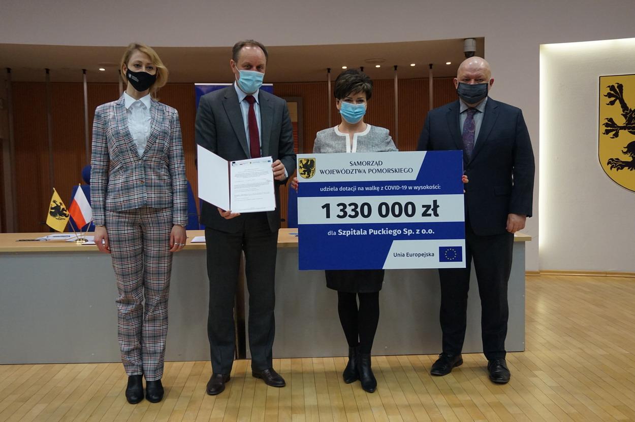 Ponad 7 mln zł z funduszy unijnych dla szpitali na Pomorzu na walkę z COVID-19. Kto i na co otrzyma?