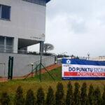 Punkt szczepień tymczasowych w Aqua Centrum w Kościerzynie