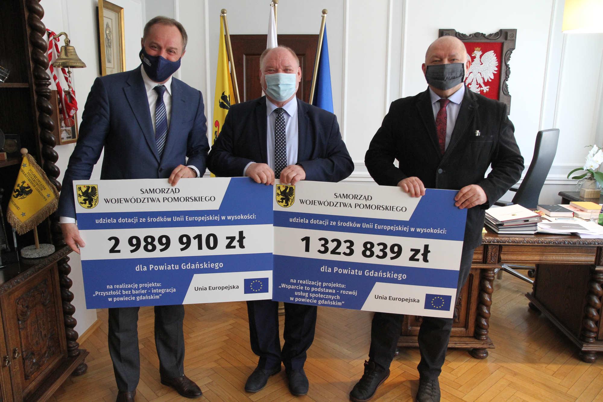 Ponad 4,31 mln zł dla powiatu gdańskiego. Unijne dotacje na wsparcie usług społecznych