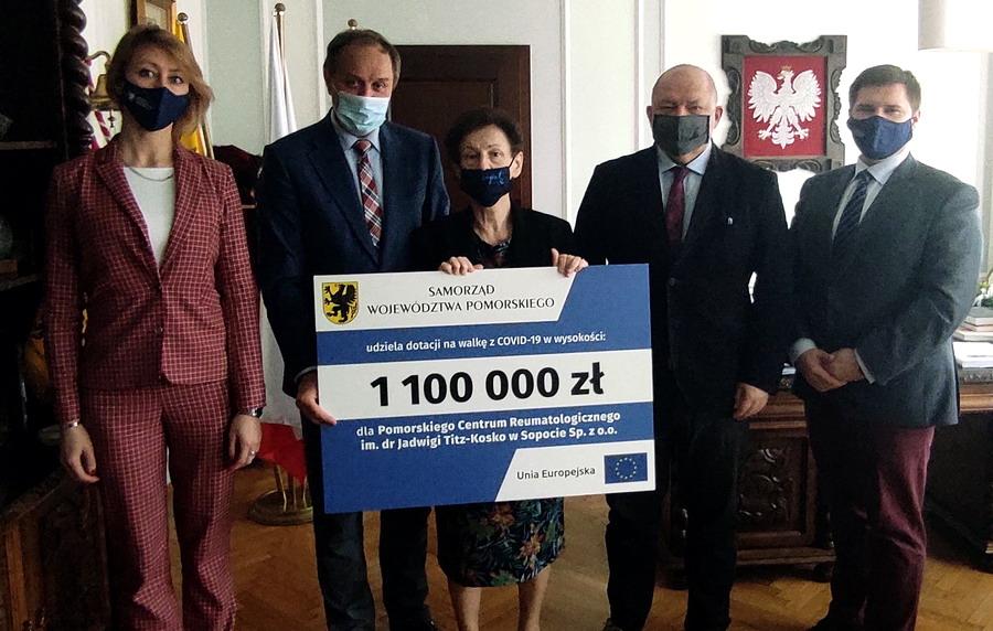 Sopot. 1,1 mln zł z UE dla Pomorskiego Centrum Reumatologicznego na walkę z COVID-19