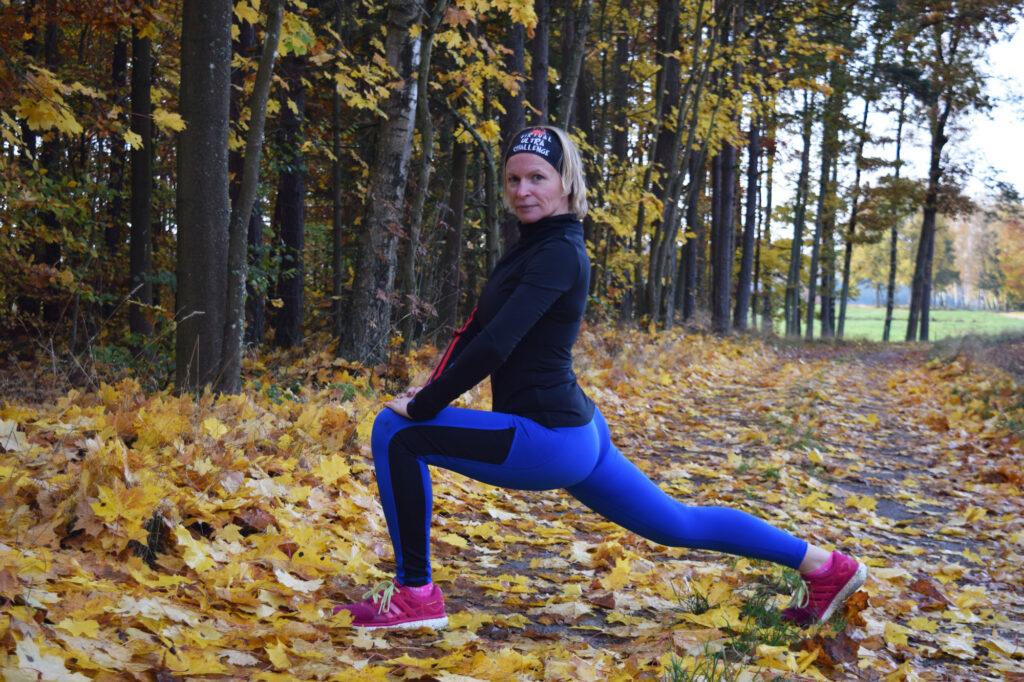 Wiola Czuryńska podczas cwiczeń