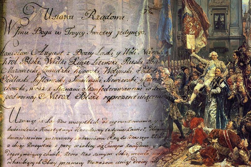 Grafika upamiętniająca rocznicę uchwalenia Konstytucji 3 maja
