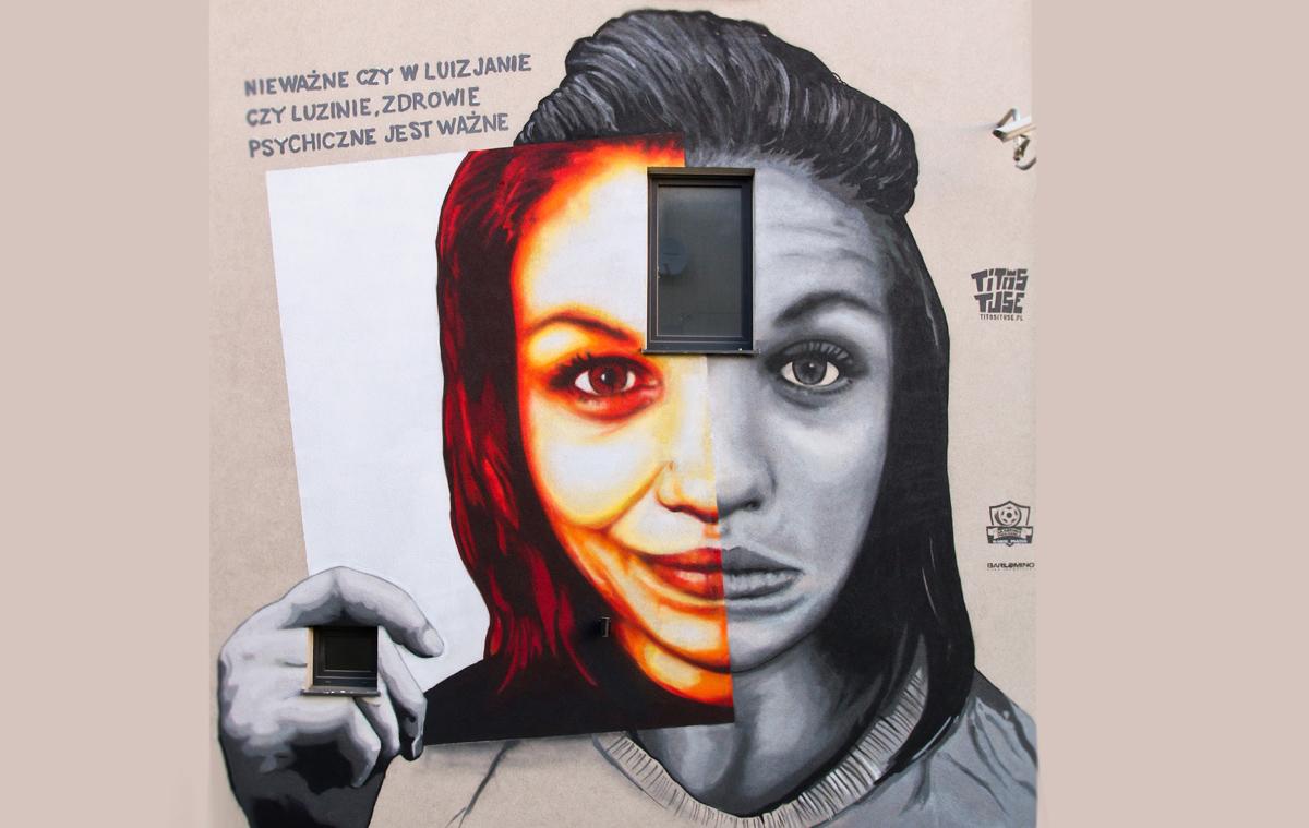 W Luzinie powstał mural, który ma wspierać osoby chore psychicznie