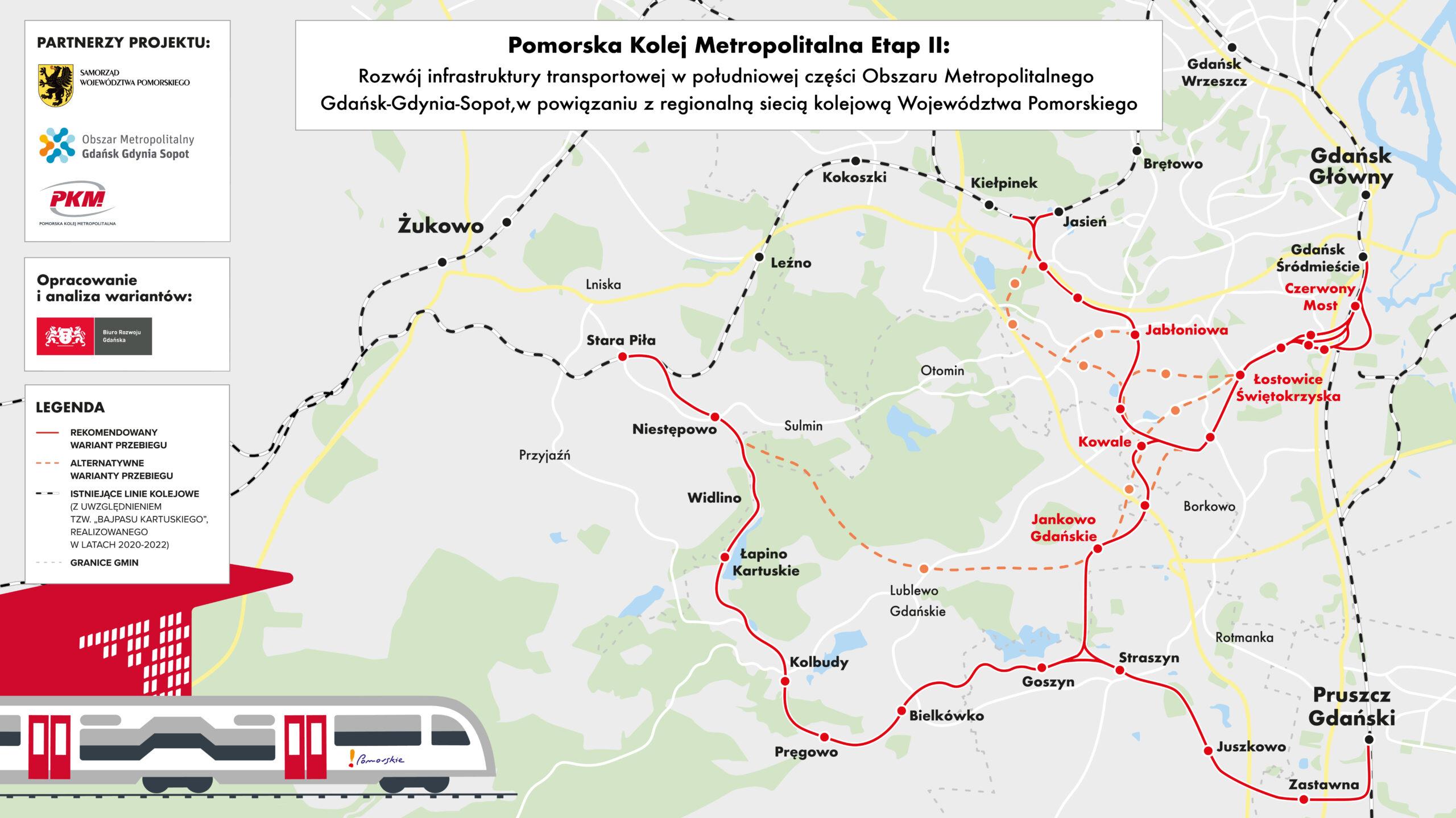 Którędy i jak dojedziemy pociągiem na południe Gdańska? Ten dokument da odpowiedź